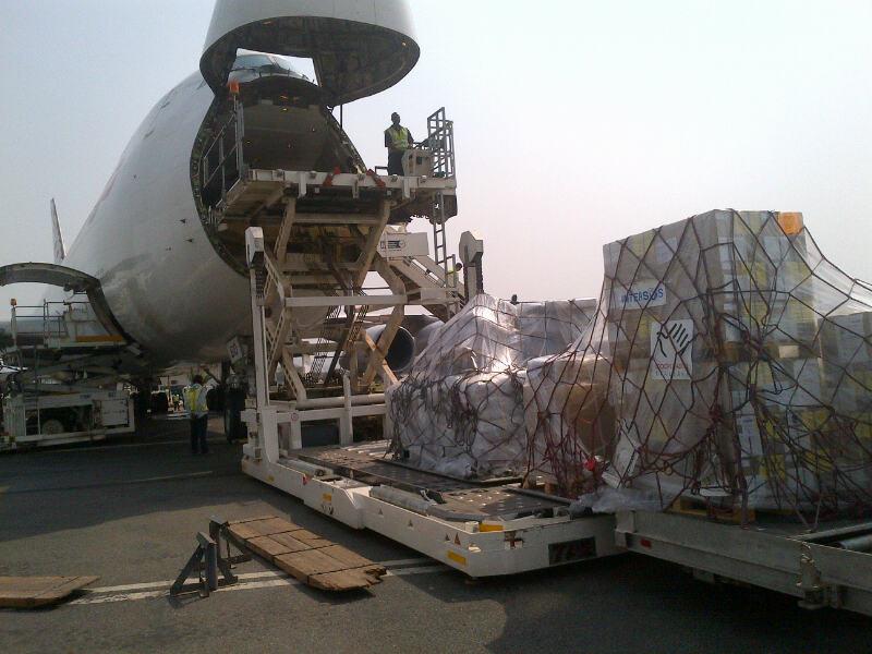 primo cargo in arrivo a Bangui