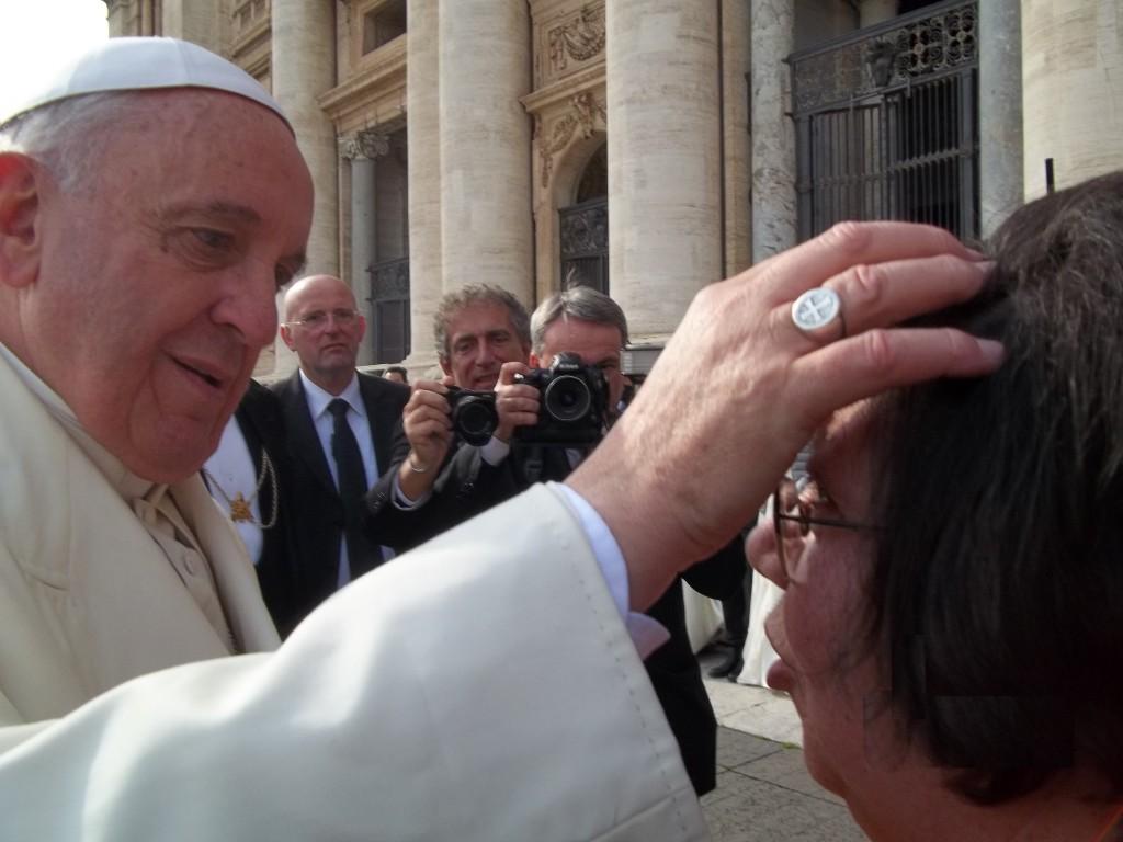 Papa Francesco con Fernanda