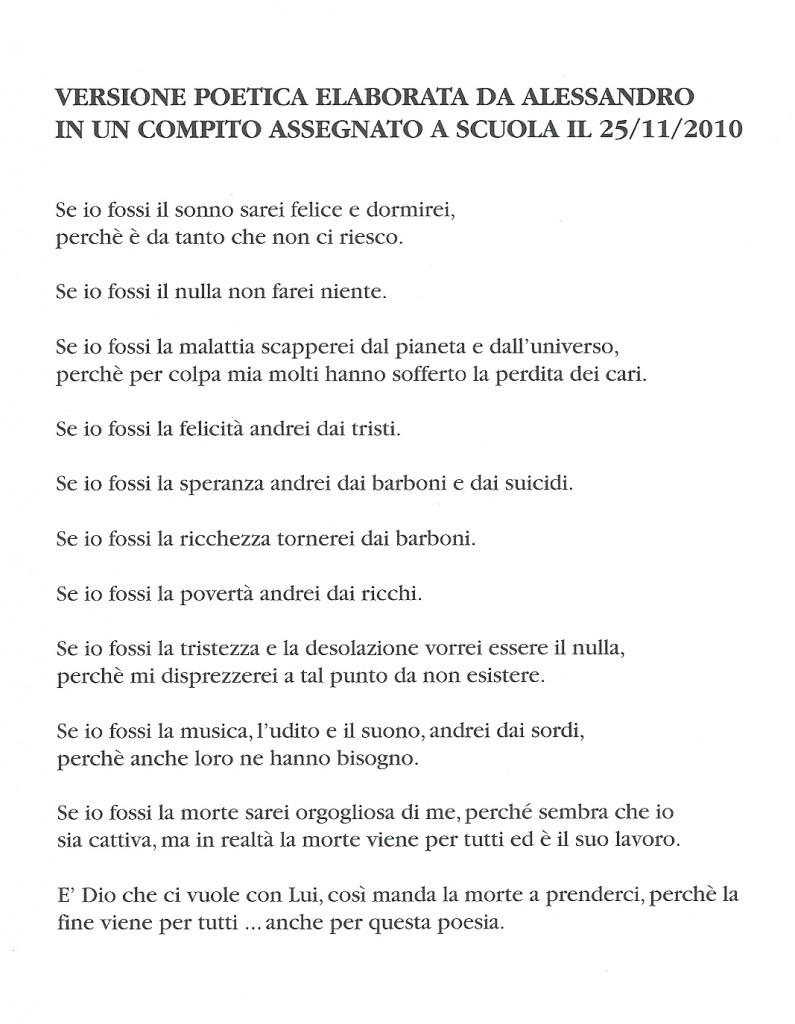 Rielaborazione poetica di Alessandro