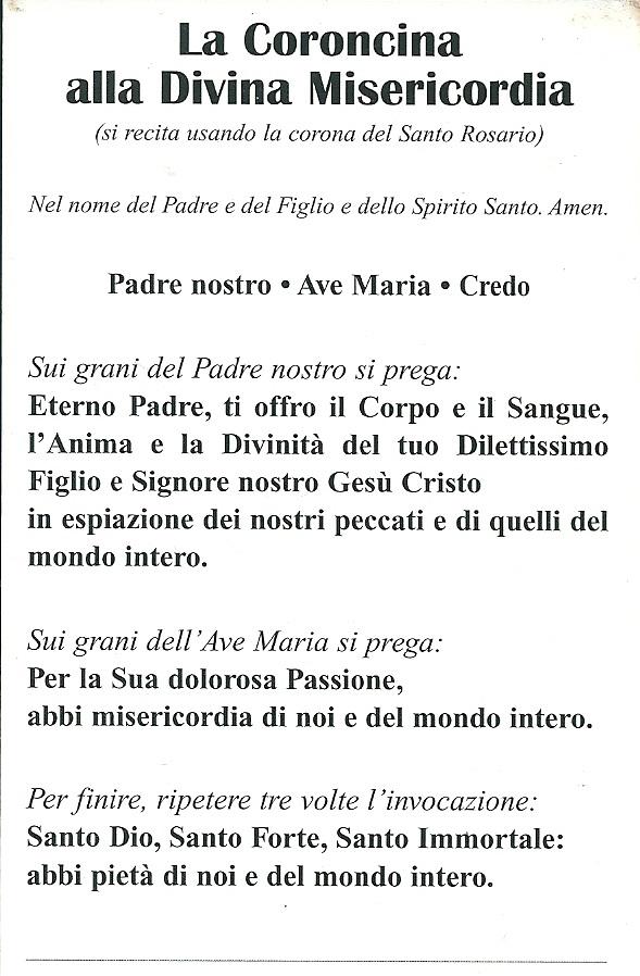 Anche Flavio era solito recitarla, in particolare negli ultimi mesi, grazie ad un'immagine regalatagli da p. Andrea Perzillo, Cappuccino Polacco a Bocaranga
