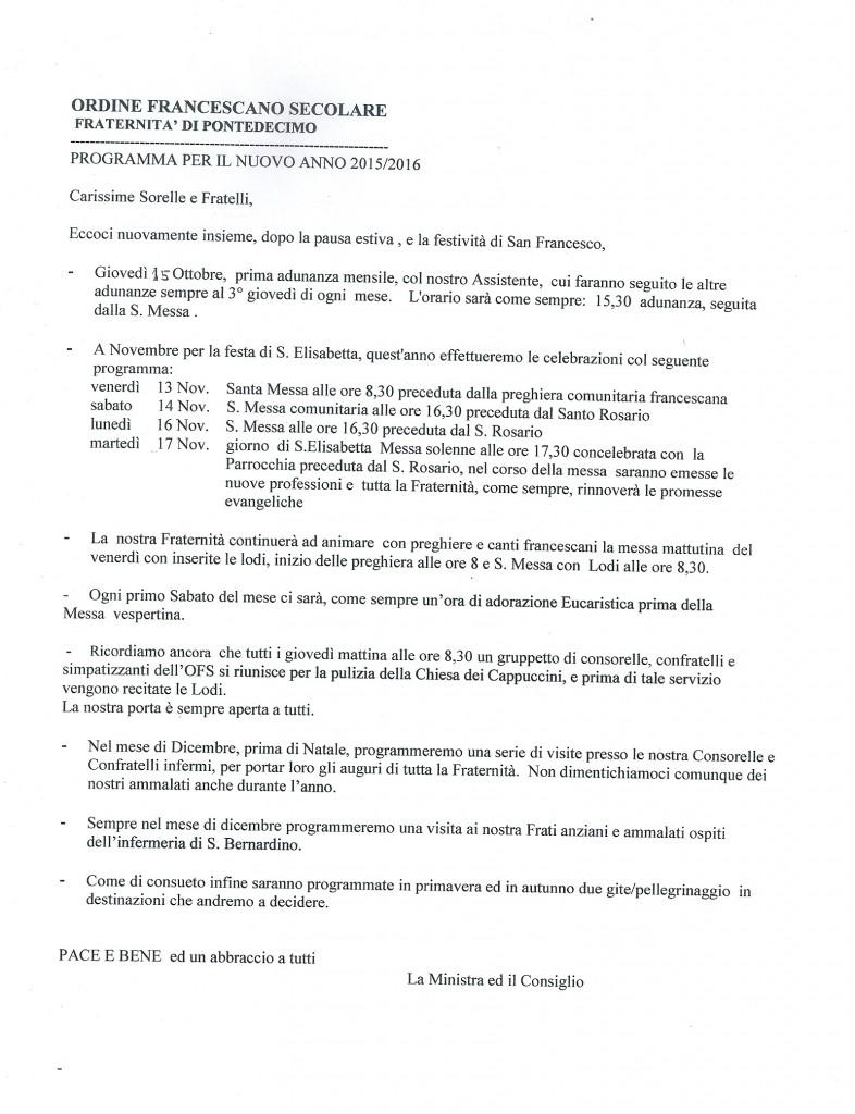 Programma O.F.S. 2015-2016