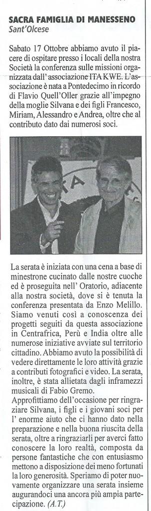 Articolo S.O.C. Manesseno