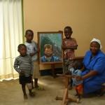Arrivato a Bocaranga il quadro di Flavio gentilmente realizzato e donato dall'artista Maristella Cuccaddu
