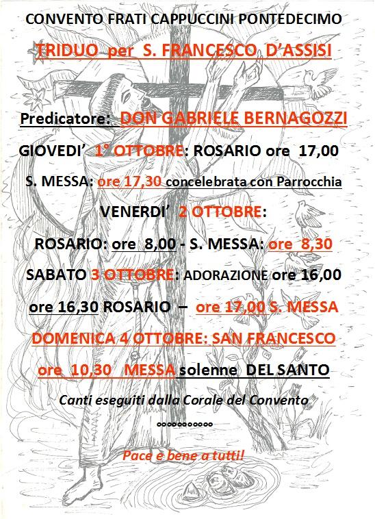 Triduo S. Francesco 2015