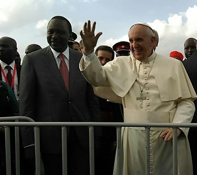 arrivo Papa in Kenya
