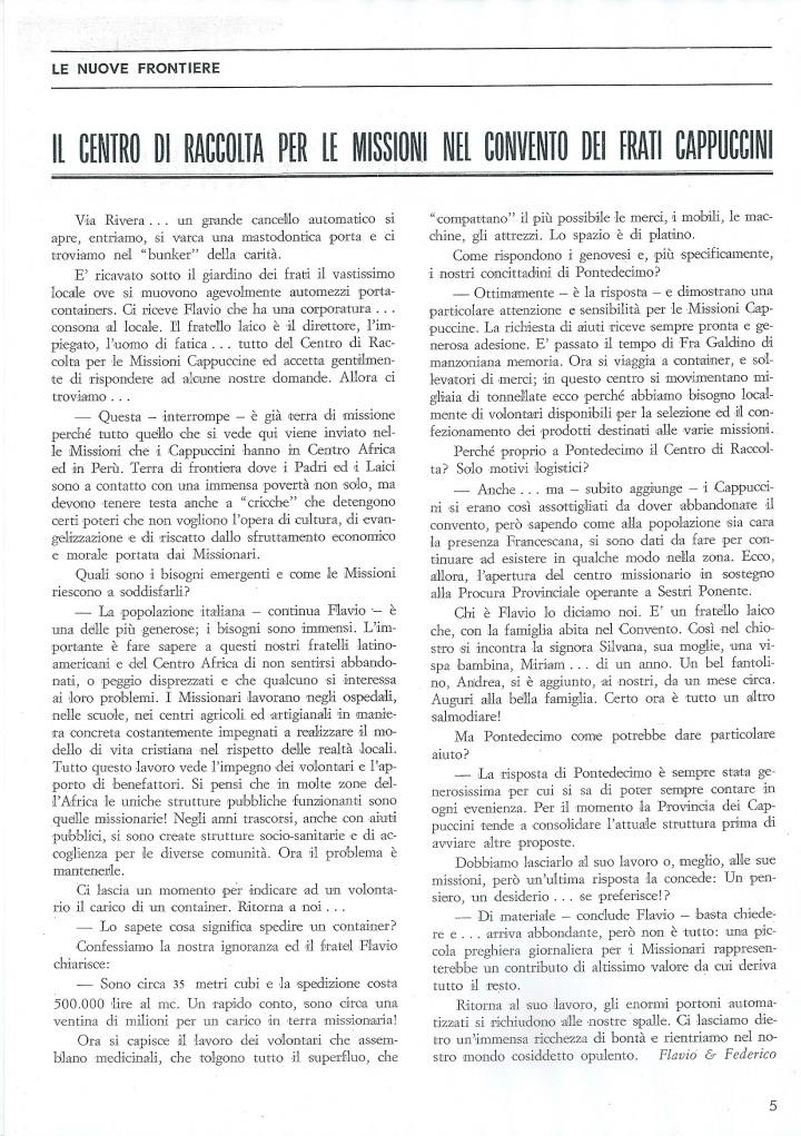 articolo su Ponte - Dic. 1992