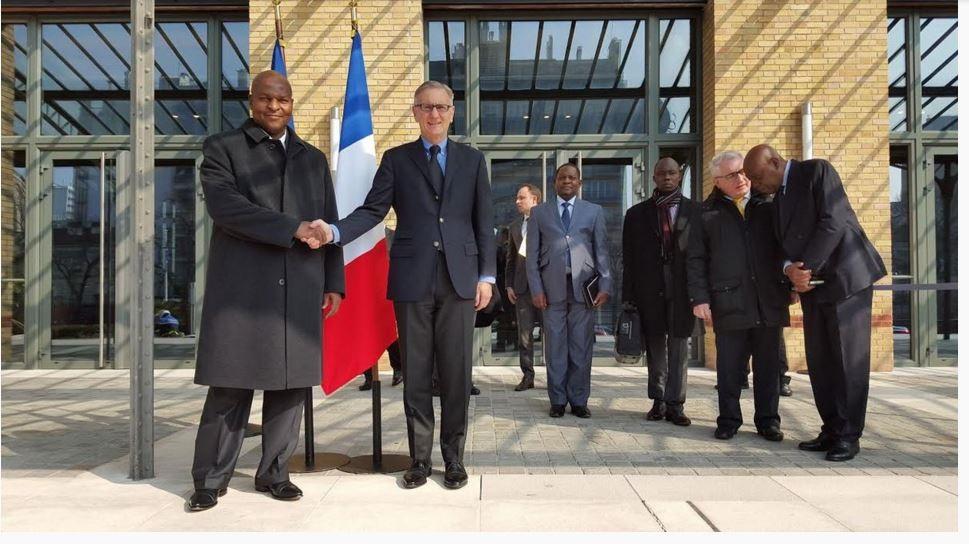 Faustin Archange Touadera in visita a Parigi