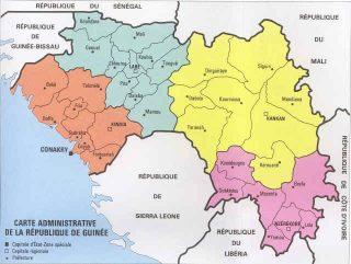 cartina geografica Guinea Marittima