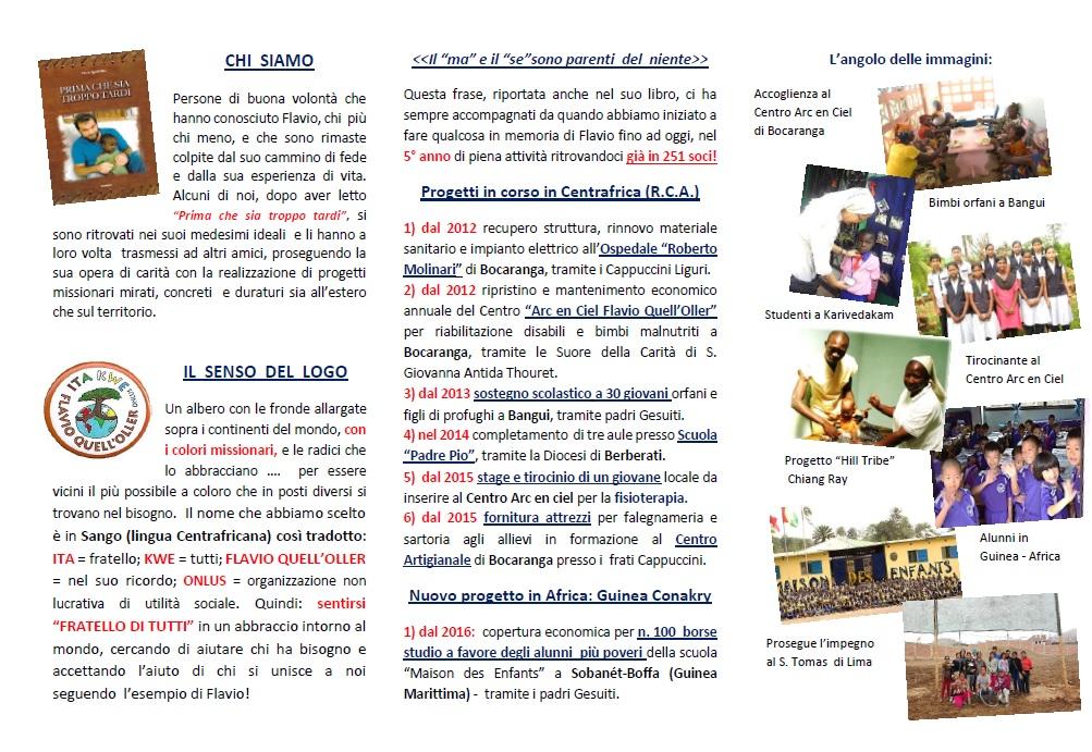 Depliant Ita Kwe - 5^ edizione - lato interno